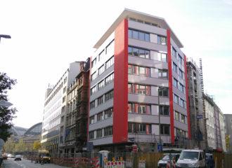 Das NIKA.haus im Frankfurter Bahnhofsviertel im Oktober 2018