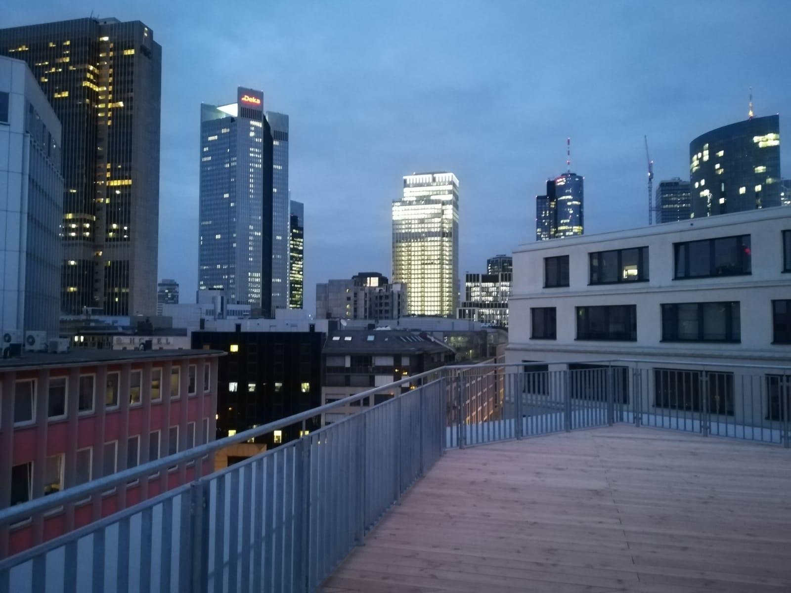 Unser Blick von der Dachterrasse